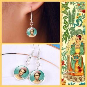 AVAILABLE SOON! Frida Kahlo Portrait Earrings